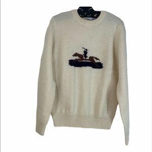 Vintage Hong Kong JG Hook Horse Wool Sweater